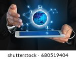 concept of management... | Shutterstock . vector #680519404