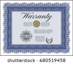 blue formal warranty... | Shutterstock .eps vector #680519458