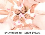 low angle view of happy women... | Shutterstock . vector #680519608