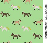 Seamless Pattern Of Funny...