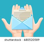 email message concept. new ... | Shutterstock .eps vector #680520589