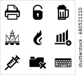 set of 9 miscellaneous icons... | Shutterstock .eps vector #680521210
