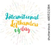 international lefthanders day... | Shutterstock .eps vector #680521384