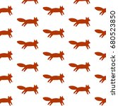 simple pattern with cute... | Shutterstock .eps vector #680523850