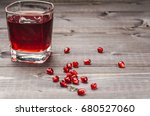 glass of pomegranate juice.... | Shutterstock . vector #680527060
