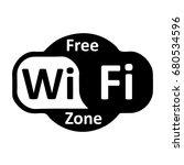 wifi logo zone   stock vector | Shutterstock .eps vector #680534596