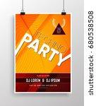vector dance party flyer design ... | Shutterstock .eps vector #680538508