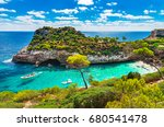 mediterranean sea beach at... | Shutterstock . vector #680541478