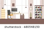 workplace office  co working... | Shutterstock .eps vector #680548150