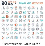set of line icons  sign and...   Shutterstock . vector #680548756