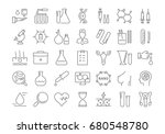 set of line icons  sign and... | Shutterstock . vector #680548780