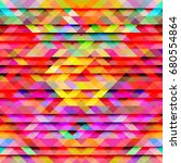 triangle pattern background... | Shutterstock . vector #680554864