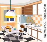 vector cartoon illustration of... | Shutterstock .eps vector #680556598