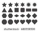basic shape elements with sharp ... | Shutterstock .eps vector #680558500