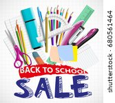 back to school background with... | Shutterstock .eps vector #680561464
