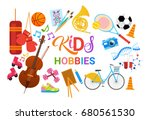 kids hobbies art classes logo...   Shutterstock .eps vector #680561530