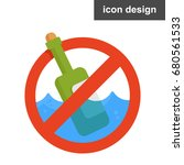 vector icon pollution water