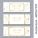 set of white and gold banners... | Shutterstock .eps vector #680567509