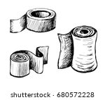 paper in rolls of different...   Shutterstock .eps vector #680572228