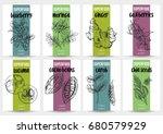 superfood banners set  hand...   Shutterstock .eps vector #680579929
