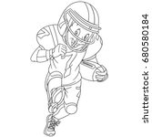 coloring page of boy playing... | Shutterstock .eps vector #680580184