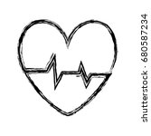cardio heart icon    Shutterstock .eps vector #680587234