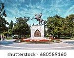 statue of honor or atat rk... | Shutterstock . vector #680589160