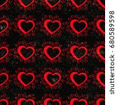 seamless pattern with red...   Shutterstock .eps vector #680589598