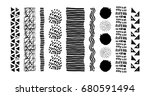 set of vector geometric... | Shutterstock .eps vector #680591494