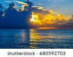 thunder storms and clouds on... | Shutterstock . vector #680592703