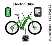 electric bike vector... | Shutterstock .eps vector #680592838