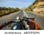 the road view over the... | Shutterstock . vector #680595094