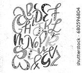 Unique Hand Drawn Latin...