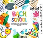 vector back to school banner ...   Shutterstock .eps vector #680597113