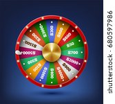 realistic spinning fortune... | Shutterstock . vector #680597986