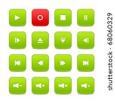 green and red 16 media control... | Shutterstock .eps vector #68060329