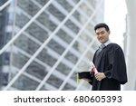 happy graduate man wearing... | Shutterstock . vector #680605393