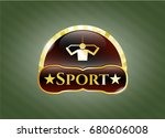 gold badge or emblem with lat...   Shutterstock .eps vector #680606008
