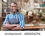 portrait of a handsome young... | Shutterstock . vector #680606296