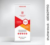 roll up banner design  modern... | Shutterstock .eps vector #680609950
