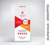 roll up banner design  modern... | Shutterstock .eps vector #680609950