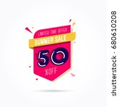 summer sale 50  off label | Shutterstock .eps vector #680610208
