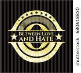 between love and hate golden... | Shutterstock .eps vector #680618830