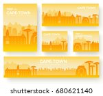 set of cape town landscape... | Shutterstock .eps vector #680621140