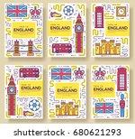 england vector brochure cards... | Shutterstock .eps vector #680621293