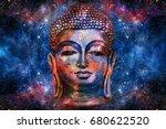 head of lord buddha digital art ... | Shutterstock . vector #680622520