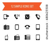 set of 12 editable gadget icons....