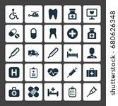 medicine icons set. collection... | Shutterstock .eps vector #680626348