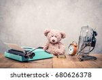 Teddy Bear Toy Sitting At The...