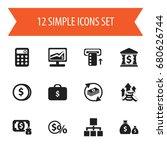 set of 12 editable finance...